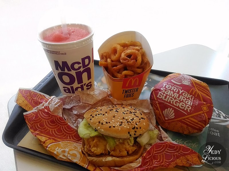McDonald's Flavors of Japan with Twister Fries, McDo Flavors of Japan Ebi Burger, Teriyaki Samurai Burger, Fuji Apple McFreeze, Twister Fries, McDonald's Blog Review YedyLicious Manila Food Blog Yedy Calaguas