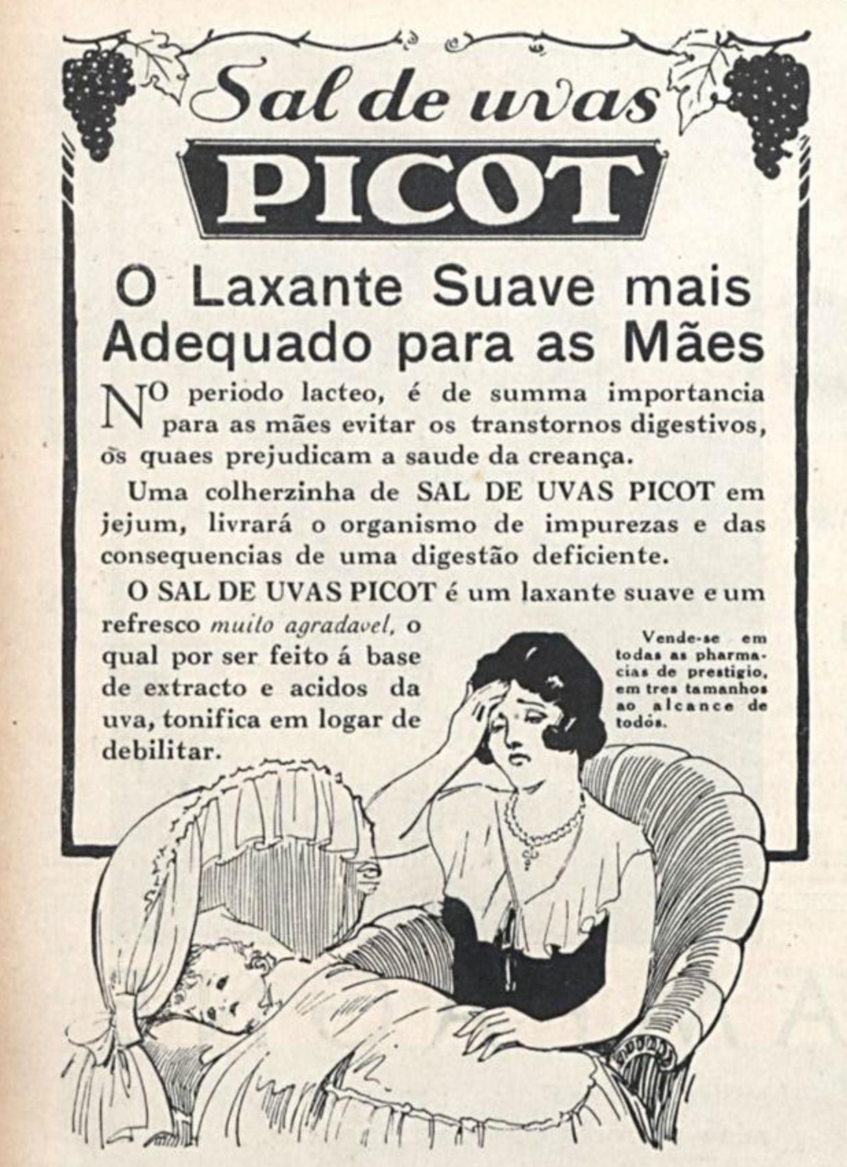 Propaganda antiga do Sal de Uvas Picot veiculado em 1931