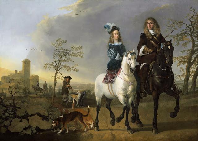Альберт Кёйп - Дама и кавалер верхом. 1655-65