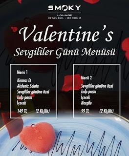 Smoky Lounge Bakırköy İstanbul Sevgililer Günü Menüsü 2020