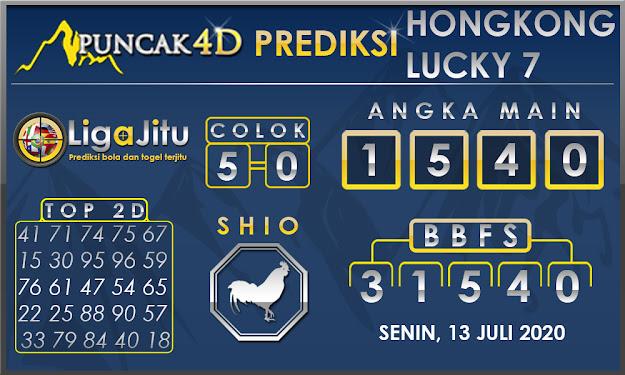 PREDIKSI TOGEL HONGKONG LUCKY 7 PUNCAK4D 13 JULI 2020