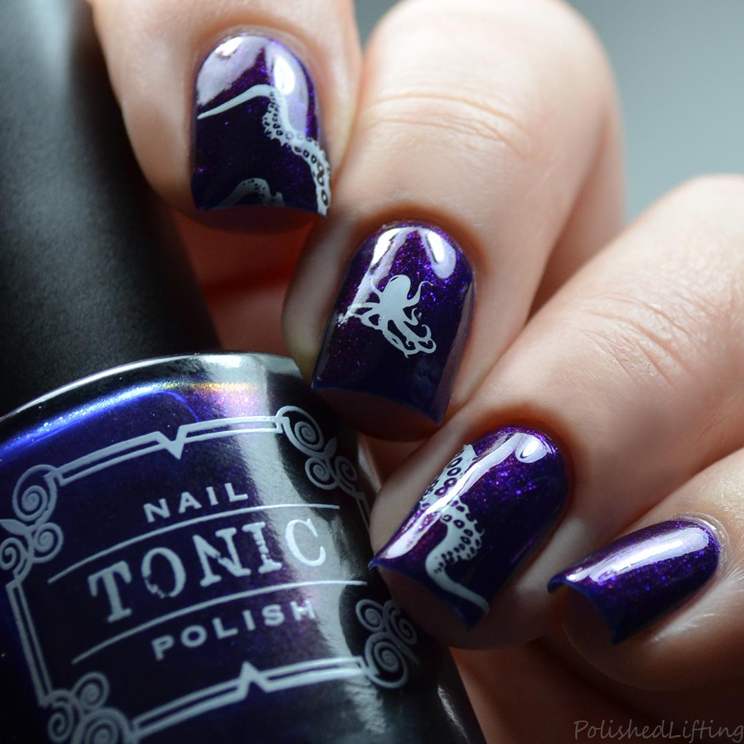 Polished lifting octopus nail art feat tonic nail polish chibound octopus nail art prinsesfo Image collections