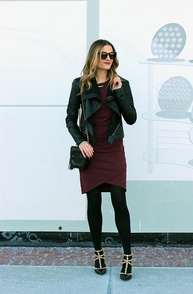Bodycon Long Sleeve Dress #bodycon #longsleevedress #valentinesdress