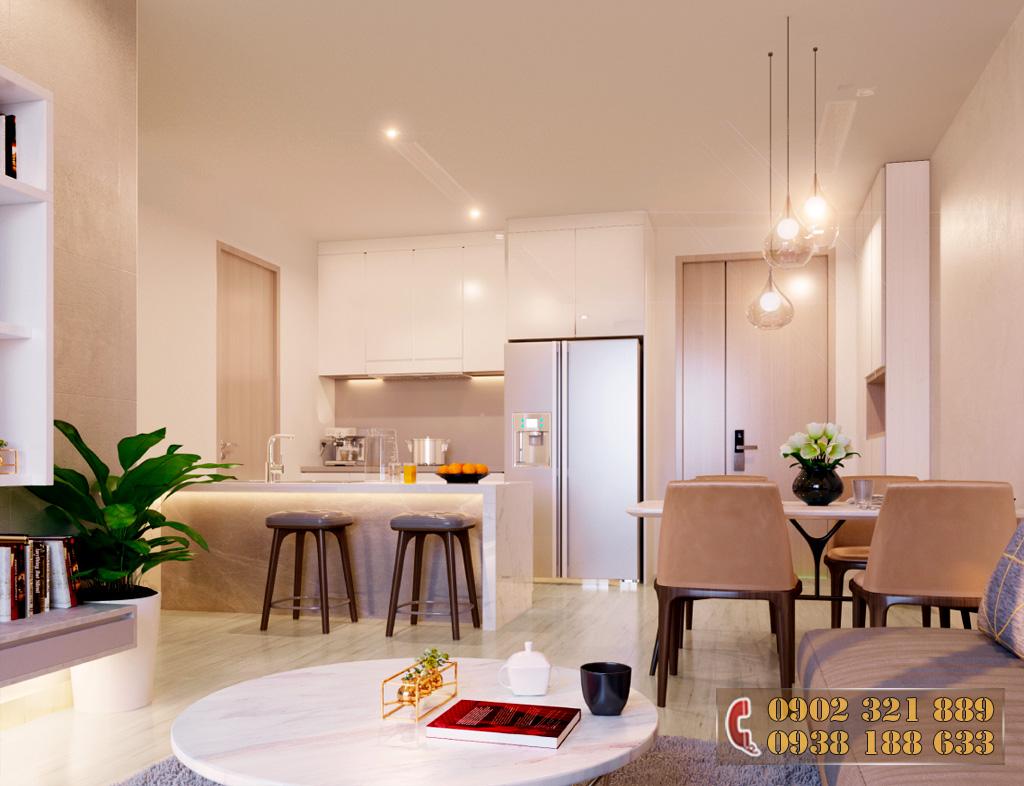 Nội thất căn hộ Kingdom 101 - Phòng khách căn hộ 1B