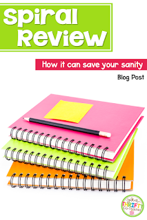 Spiral review is an important component in your classroom that can help save your sanity and eliminates the need to test prep.