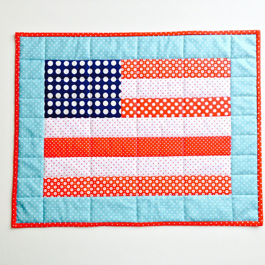Patriotic Sewing - American Flag Mini Quilt