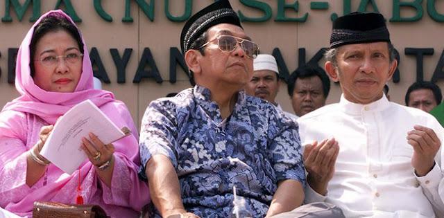 Gus Dur Sebut Megawati Orang yang Paling Bertanggung Jawab atas Pencopotannya