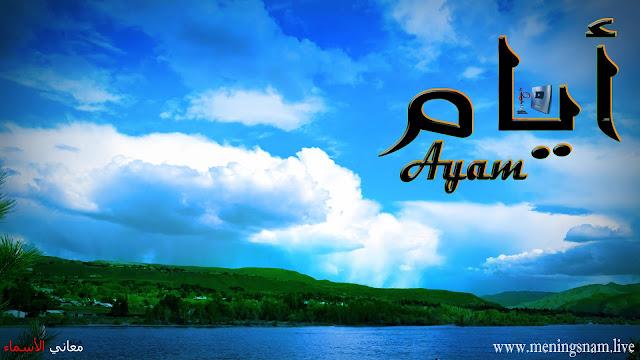 معنى, اسم, ايام, وصفات, حاملة, هذا الاسم, Ayam,