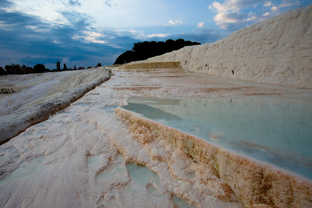 The cotton fort in Turkey is a tourist attraction not to be missed
