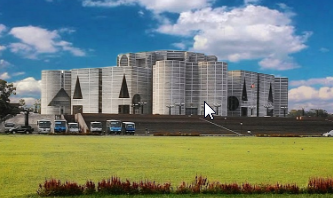 জাতীয় সংসদ ভবন: স্থপতি লুই কানের শেষ স্থাপনা