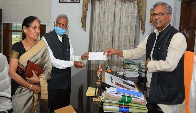 कोरोना से जंग लडने के लिए ऊर्जा पुरूष रतन सिंह गुंसोला ने सीएम राहत कोष में दिए 10लाख रुपए-देखें पूरी खबर
