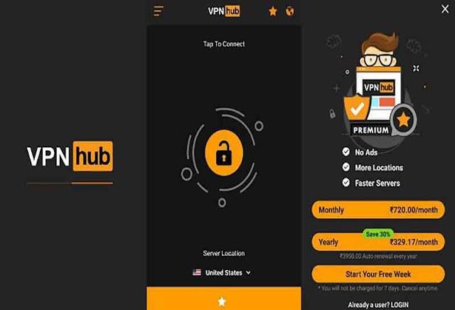 VPNHub Premium APK v2.5.4 M.o.d - Tạo IP ảo cho Android