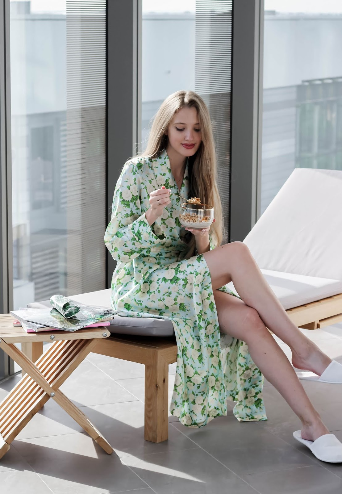 Roses Green Silk Gown Bonsoir of London
