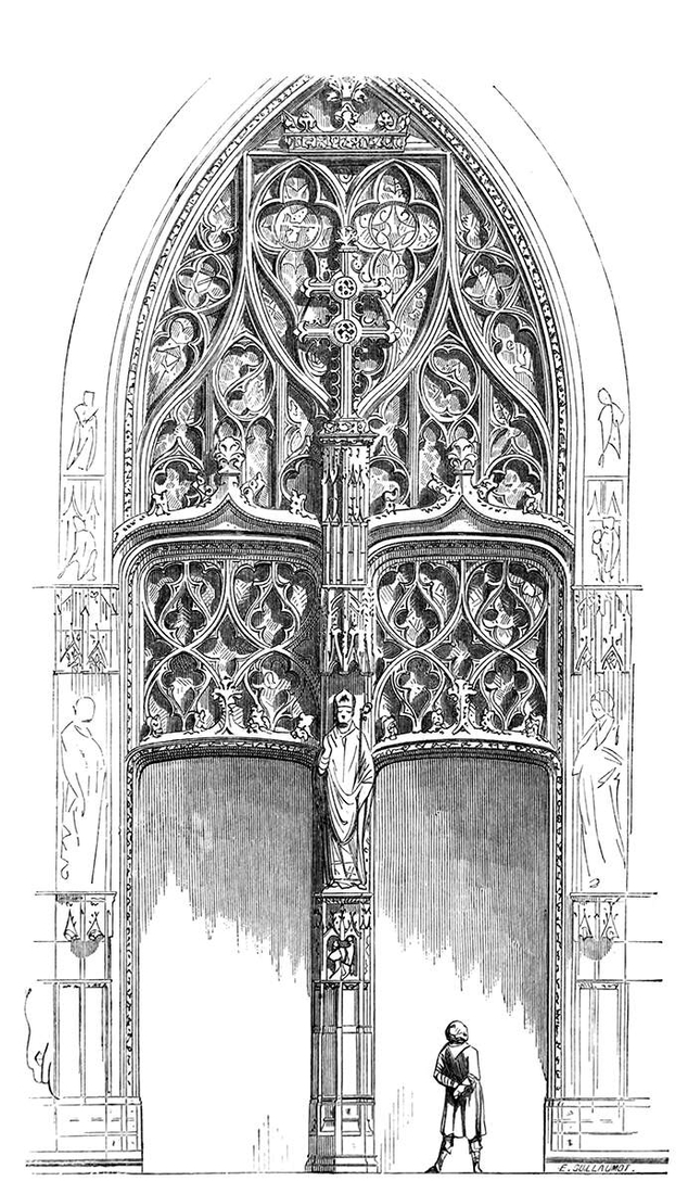 05-Tympanum-at-the-Tours-Cathedral-Eugène-Viollet-le-Duc-Gothic-Drawings-from-an-Architect-in-18th-Century-www-designstack-co