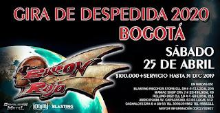 Concierto de BARON ROJO ¡El último vuelo sobre Bogotá!