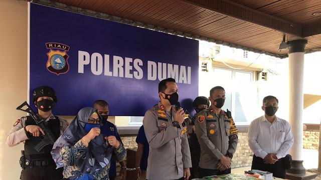 Polres Dumai Berhasil Amankan Kurir Bersama BB Shabu 23 Kg Shabu & 19.937 Butir Pil Ekstasi