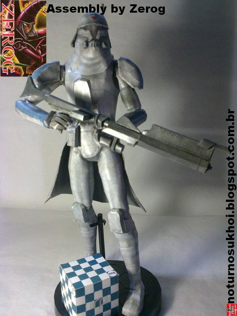 Star Wars Clone Cold Assault Trooper Papercraft