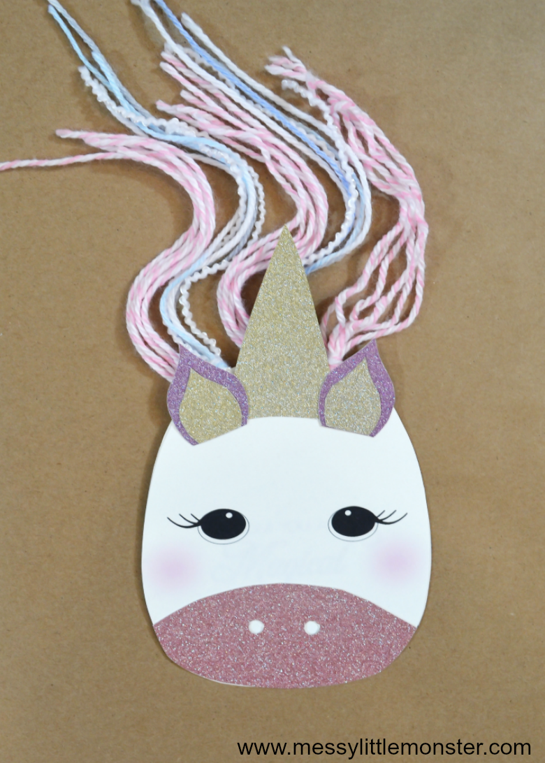 Unicorn crafts for kids are the best! Here is an easy diy unicorn mothers day card for kids to make using our free printbale unicorn template.
