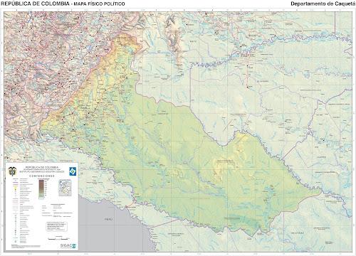 Mapa da Colômbia - Departamento de Caquetá