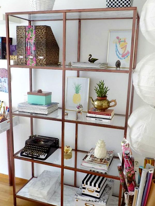 Ikea hack vittsjo shelves in copper