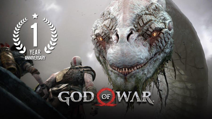 god of war 2018 ps4 1st anniversary gow 4 kratos and atreus action-adventure santa monica studio sony interactive entertainment norse mythology