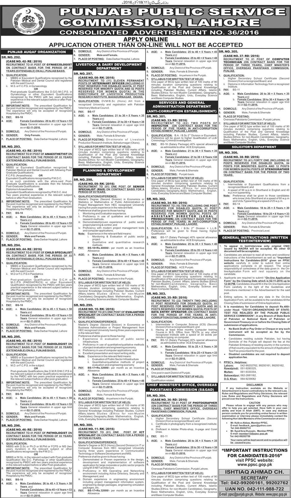 New PPSC Jobs 2016 Apply Online