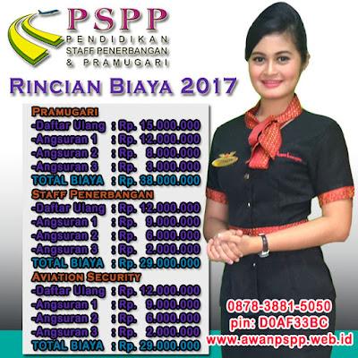 rincian biaya pendidikan PSPP Penerbangan tahun 2017