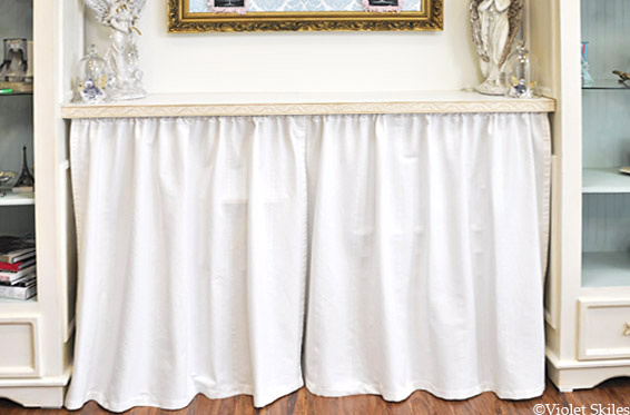 Create Beauty Altered White Curtains
