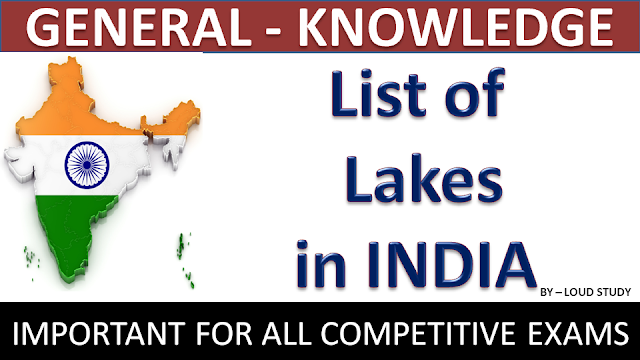 List of Important Lakes in India PDF