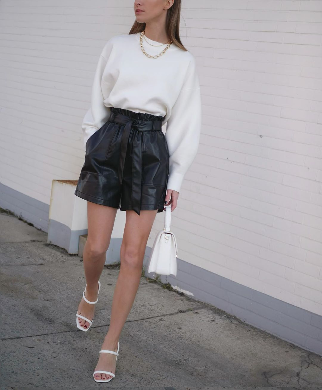 What To Wear With Your Leather Shorts for Spring