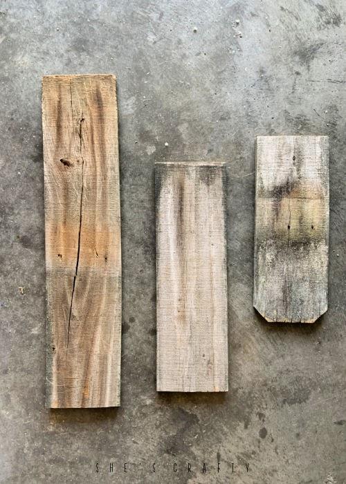 Weathered Wooden fence slats.