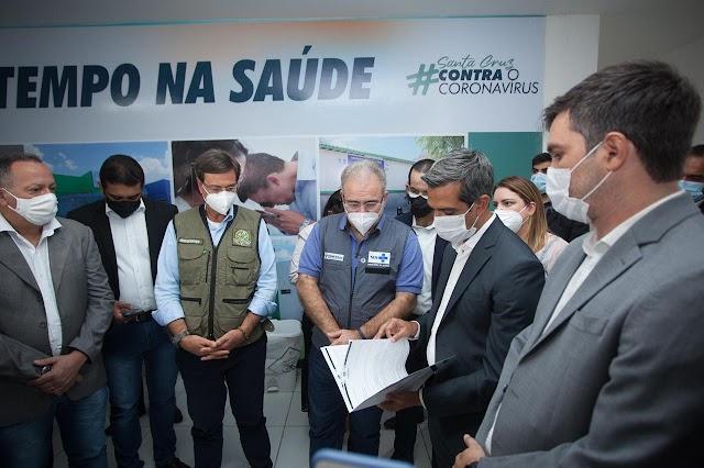 Santa Cruz do Capibaribe recebe a visita dos Ministros da Saúde e do Turismo