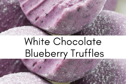 White Chocolate Blueberry Truffles