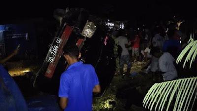 Kecelakaan Mobil Terguling di Bone, Satu Orang Kritis