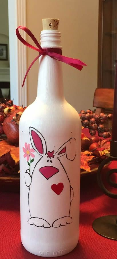 Artesanato com reciclagem de garrafas de vidro para Páscoa
