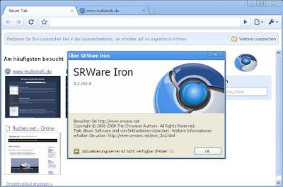تحميل متصفح الأنترنيت SRWare Iron آخر إصدار Version: 55.0.2900.0 للكومبيوتر والأندرويد