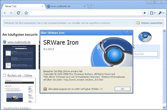 تحميل متصفح الأنترنيت SRWare Iron آخر إصدار Version: 53.0.2800.0 للكومبيوتر والأندرويد