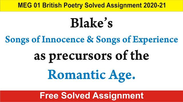 meg 01 british poetry; songs of innocence; songs of experience