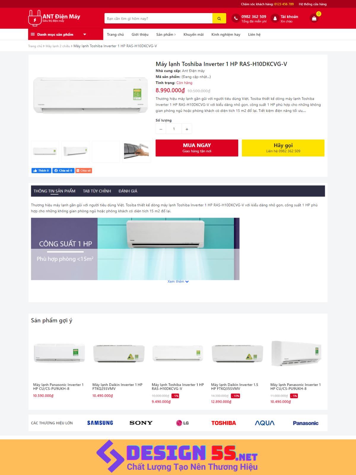 Theme blogspot bán hàng điện máy, điện gia dụng VSM81 - Ảnh 2