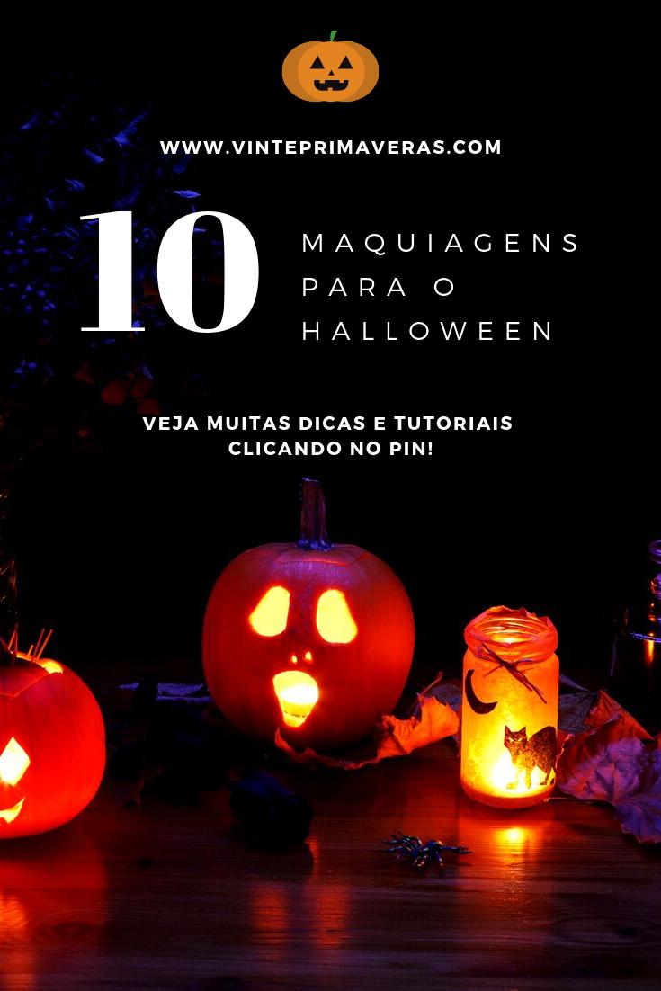 10 inspirações de maquiagem fácil para o Halloween