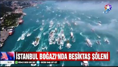 Beşiktaş'ın şampiyonluk şöleni böyle görüntülendi