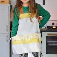 easy diy apron tea towel