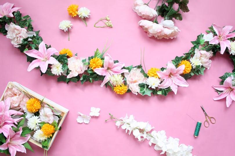 diy flower garland