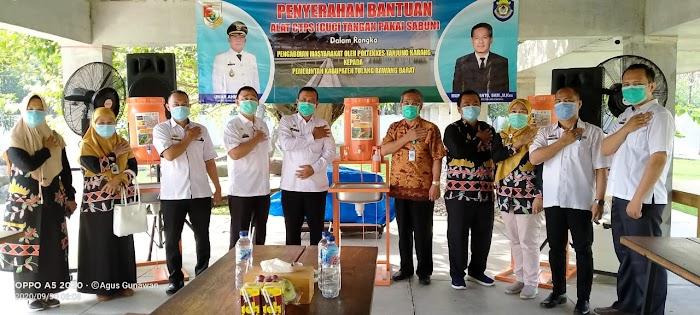 16 Unit alat Cuci Tangan  di Serahkan ke Pemerintah  Tulang Bawang Barat