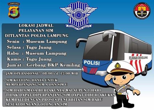 Jadwal SIM Keliling Bandar Lampung
