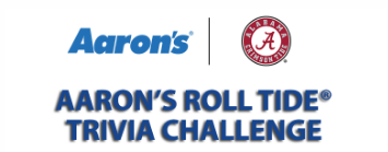 Aaron's wants you to answer three trivia questions for an instant chance to win football game tickets, autographed footballs, televisions and more!