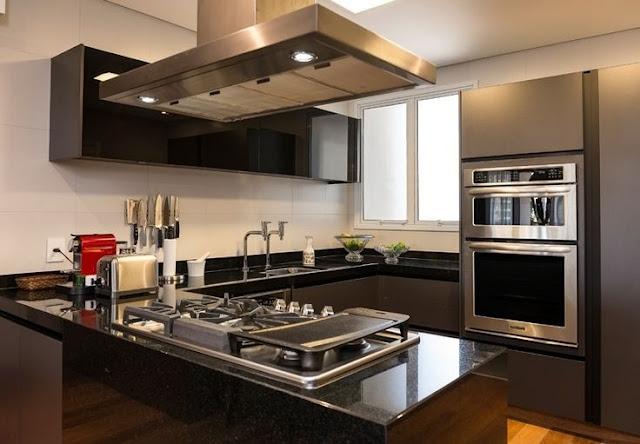 bancada-granito-preto-decoração-cozinha