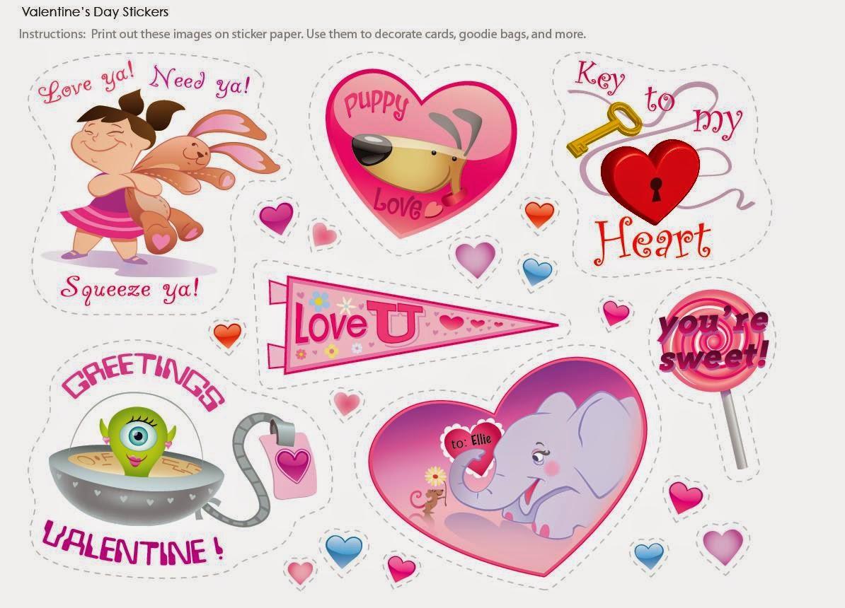 San Valentín: Divertidas Tarjetas, Etiquetas, Stickers o Toppers ...