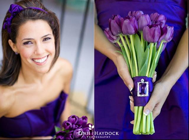 mariage violet idée bouquet mariee
