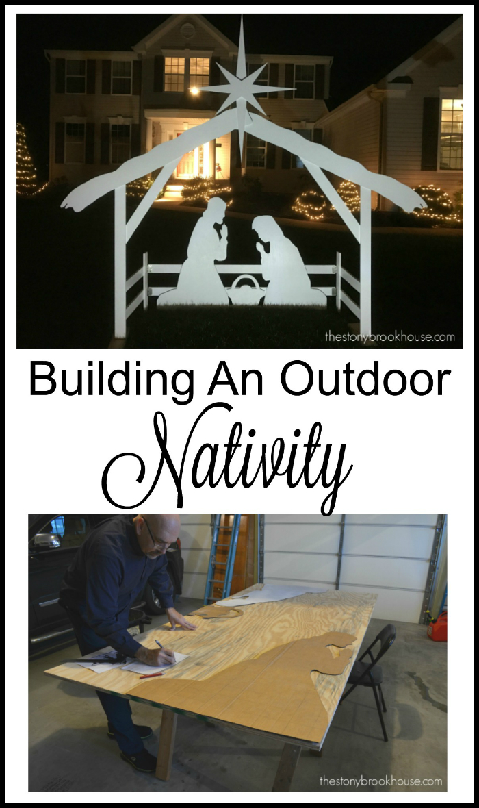 Building an outdoor nativity